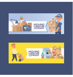 Courier postman character of delivery vector