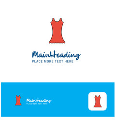 creative dress logo design flat color logo place vector image