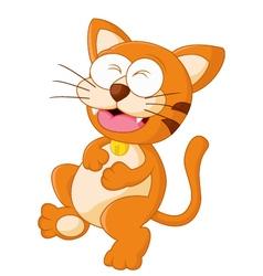 Cute baby cat satiety vector image