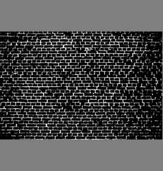 dark brick wall texture overlay vector image