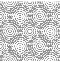 dashed circles gray abstract background seamless vector image