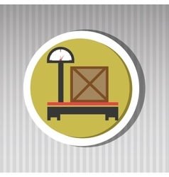 delivery packaging weight box vector image