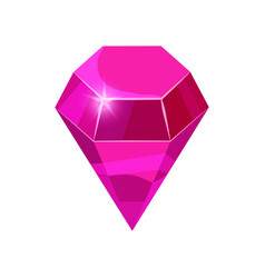 diamond sparkling shining pink color isolated on vector image