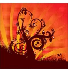 fantasy floral background vector image