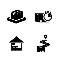 Fast shipping delivery simple related icons vector