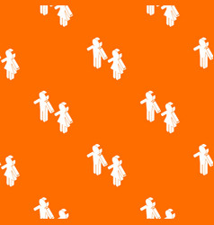 Female and male to market pattern orange vector