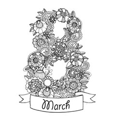 Flowers design for calendar vector