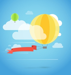 flying ballon with banner vector image