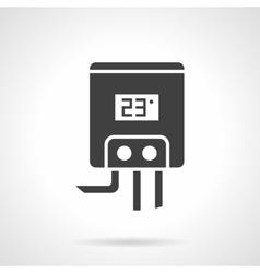 Gas water heater black design icon vector