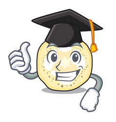 Graduation eggplant sliced on the character board vector
