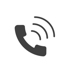 handset black icon vector image