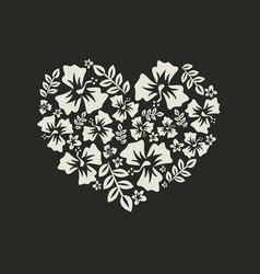 Heart of flowers vector