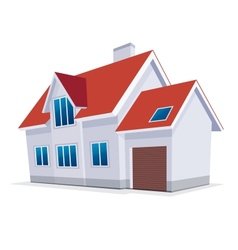 home with garage icon vector image