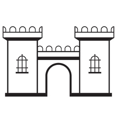 Icon castle vector