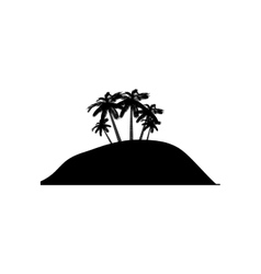 Island silhouette symbol vector image
