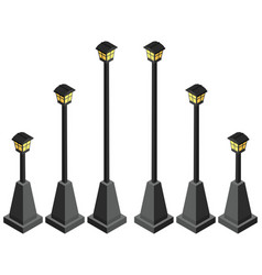 lamp posts in different size vector image