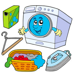 laundry collection vector image