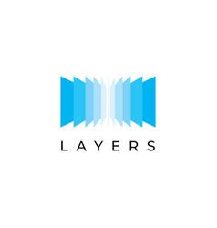 layers logo design vector image