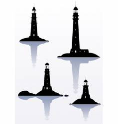 lighthouses vector image