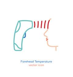 Man forehead temperature vector