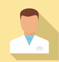 Man pharmacist icon flat style vector