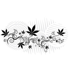 Marijuana cannabis hemp leaf symbol texture vector
