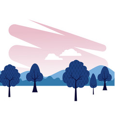 Nature park scenery vector