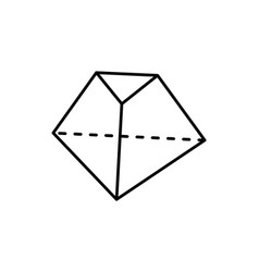 Octahedron geometric shape vector