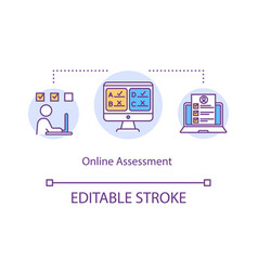 Online assessment concept icon vector