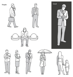 People and actions in public vector image