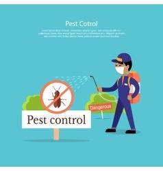 Pest Control Banner Design Flat vector