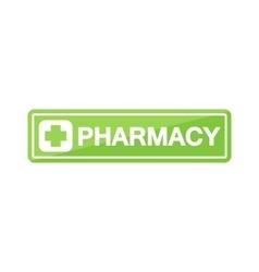 Pharmacy shop signboard vector