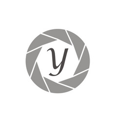 Photography service letter y vector