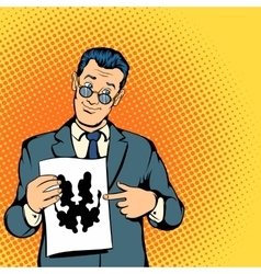 Psychologist concept comics style vector image