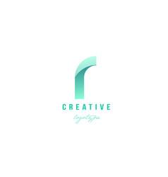 R green pastel gradient alphabet letter logo icon vector