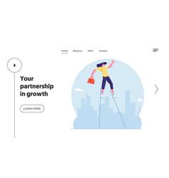 risky business idea website landing page vector image