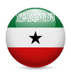 Round glossy icon of somaliland vector