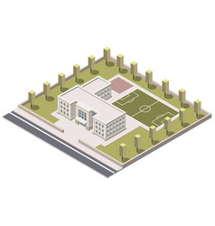 school isometric on white background vector image