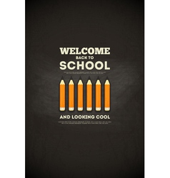 School poster pencils vector