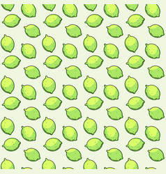 seamless pattern with limes vector image vector image