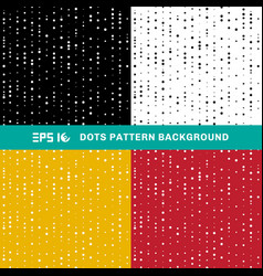 set abstract geometric dots pattern circles of vector image