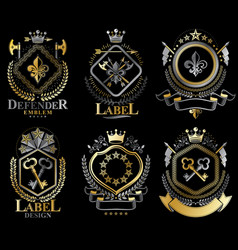 set of retro vintage insignias created with vector image