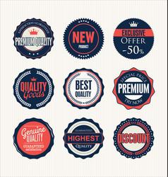 set retro vintage badges 5 vector image