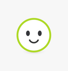 smiling face good customer review and emotional vector image