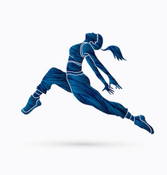 street dance b boysexercise yoga action vector image