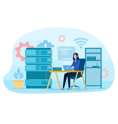 System administrator concept vector