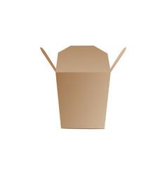 Takeaway food packaging box template realistic vector