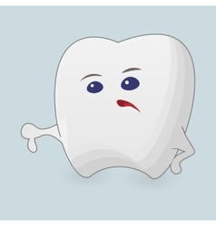 Tooth with thumb down vector image
