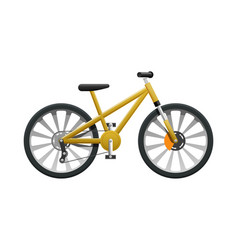 Transport isolated yellow modern sport bicycle vector