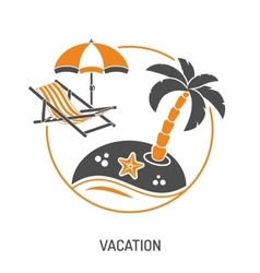 Vacation Time and Tourism Concept vector